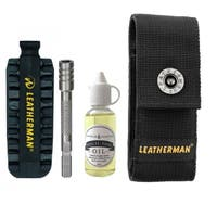 Deluxe Set - Bit Kit, Extender, Multi-Tool Oil and Pouch Fits MUT, Charge, Wave and Skeletool - Stainless Steel